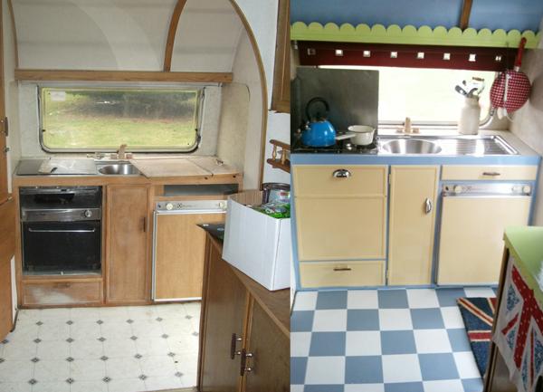 Gracie Wheels Vintage Caravan Kitchen