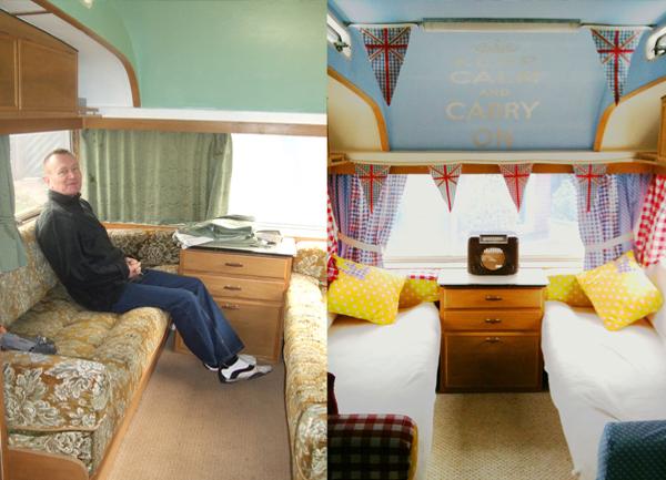 Gracie Wheels Vintage Caravan Livingroom