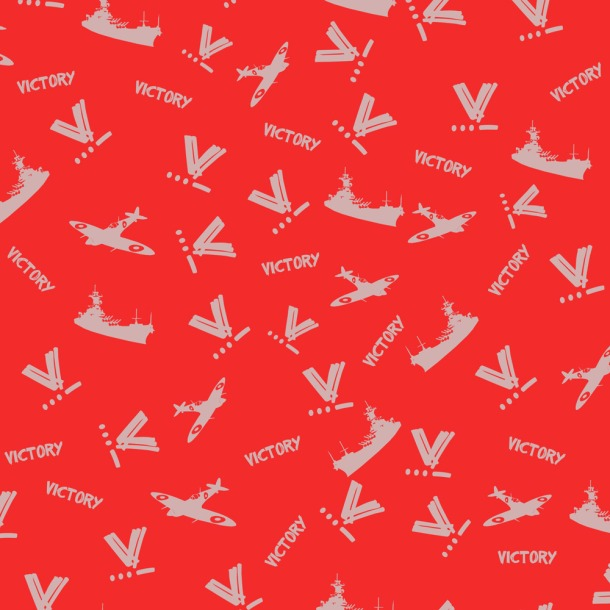 WWII Victory Fabric designed by Kitten von Mew