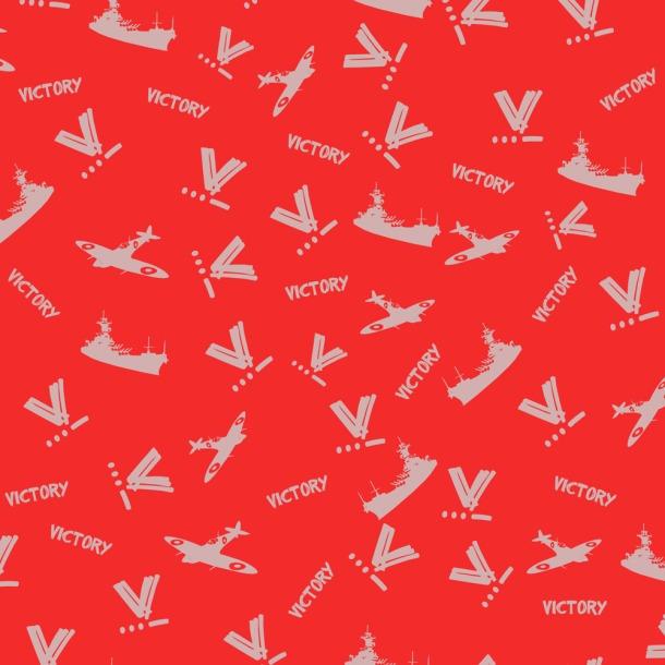 WWII Victory Fabric designed by Kitten von Mew