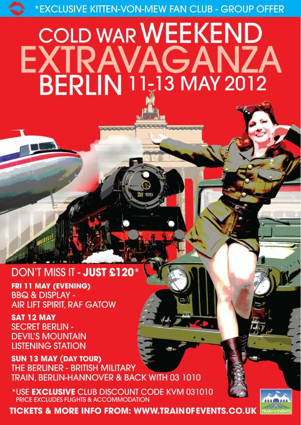 British Militay Train Journey to Berlin with Special Offer for Kitten von Mew Fans!