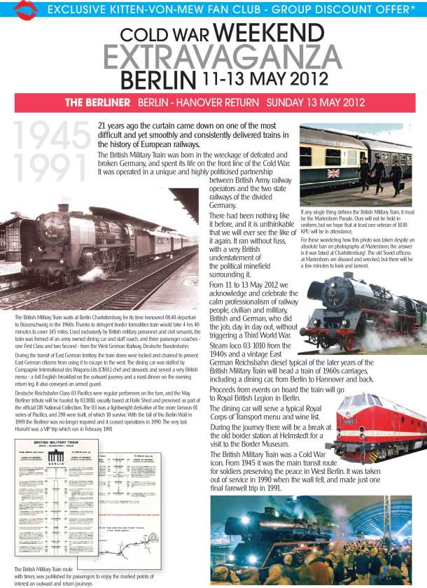 The Berliner Military Steam Train Information