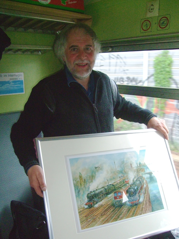steam train artist on the berliner