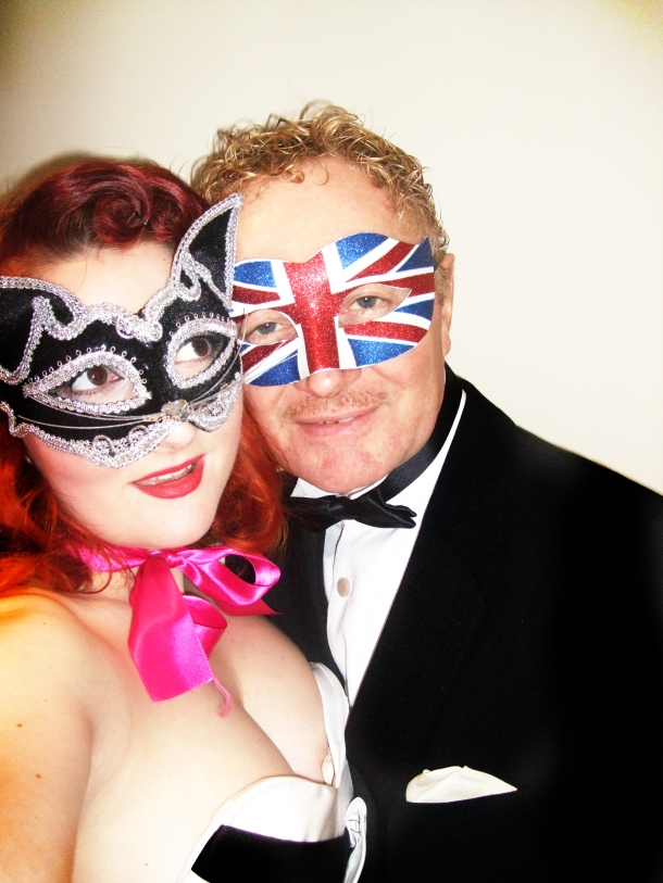 kitten and richard von mew in masks