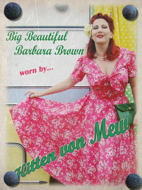 repro vintage dress kitten von mew