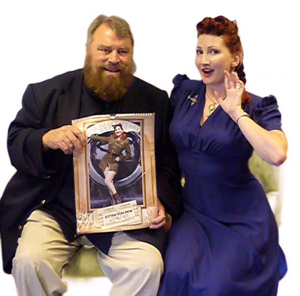 Brian Blessed and Kitten von Mew
