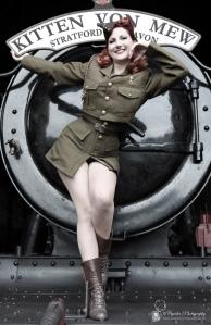 WW2 Pinup Kitten von Mew in ATS corset