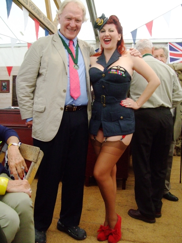 Dan Gurney and Kitten von Mew, Goodwood 2012
