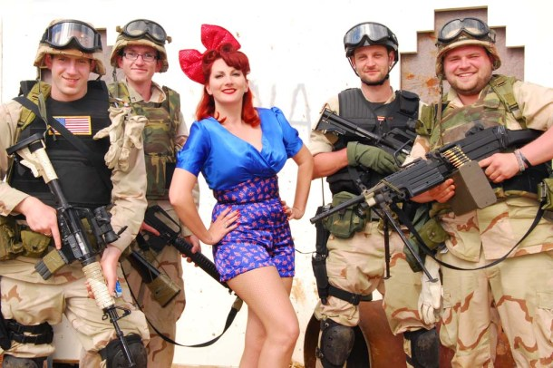 Kitten and Soldiers at War and Peace 2012