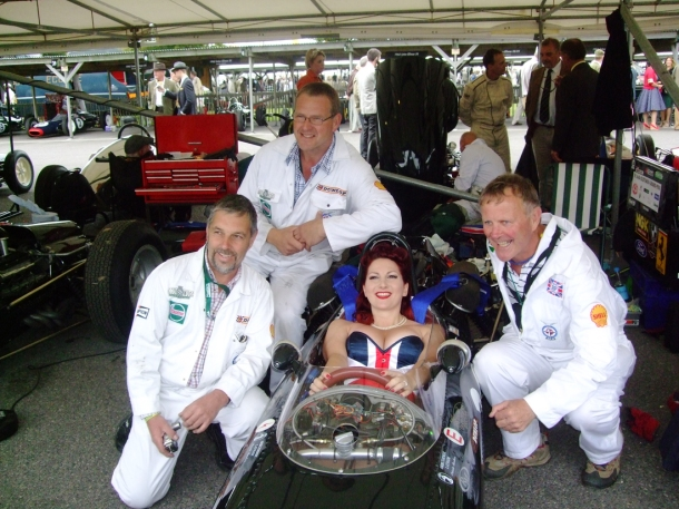 Kitten von Mew in a Racing Car, Goodwood Revival 2012