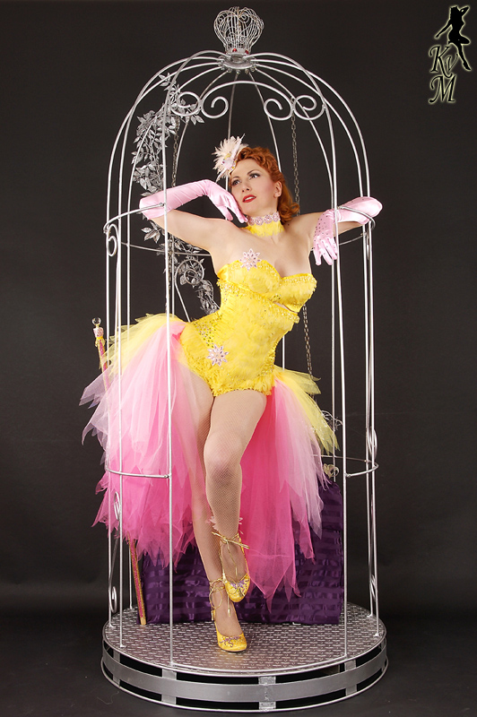 Kitten von Mew and her Burlesque Birdcage