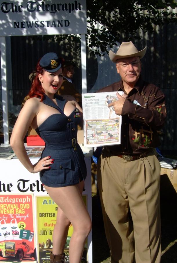 Terry Elliot and Kitten von Mew, Goodwood 2012