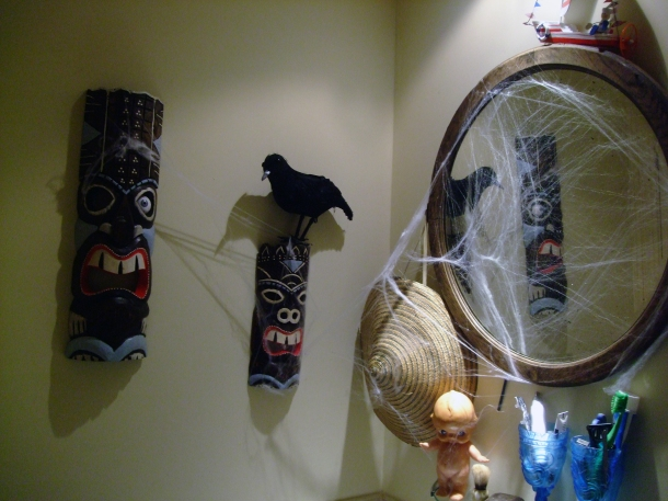 Halloween Decor in the Bathroom