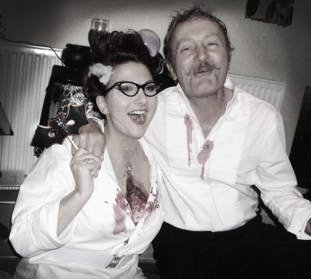 Kitten and Richard, Halloween 2012