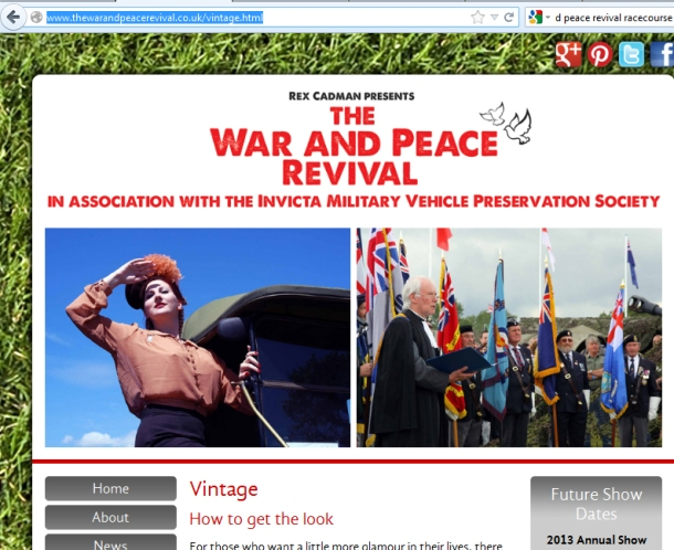 War and Peace Revival Website
