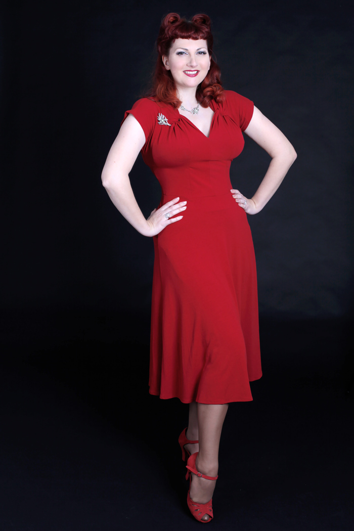 heyday-online-red-1940s-dress