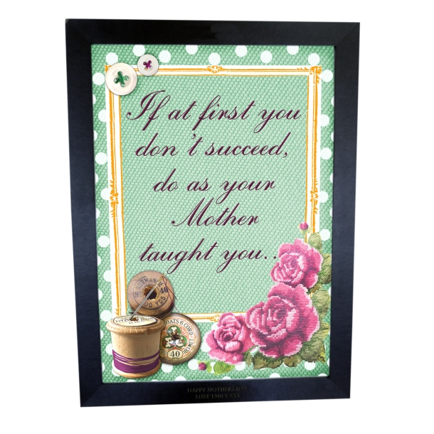 vintage sewing gifts-personalised poster