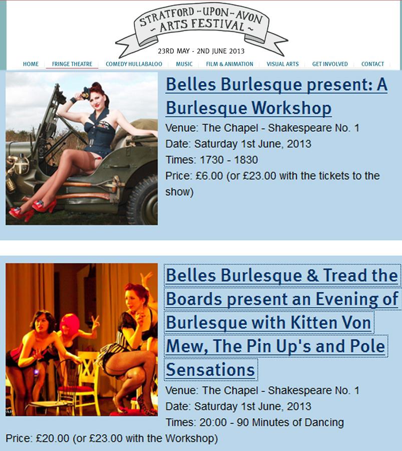 Stratford Arts Festival Kitten Von Mew