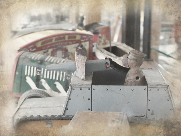 ww2 tin toy armoured car