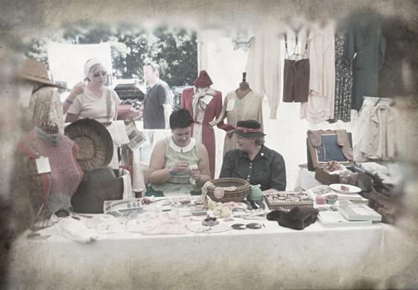 vintage village display
