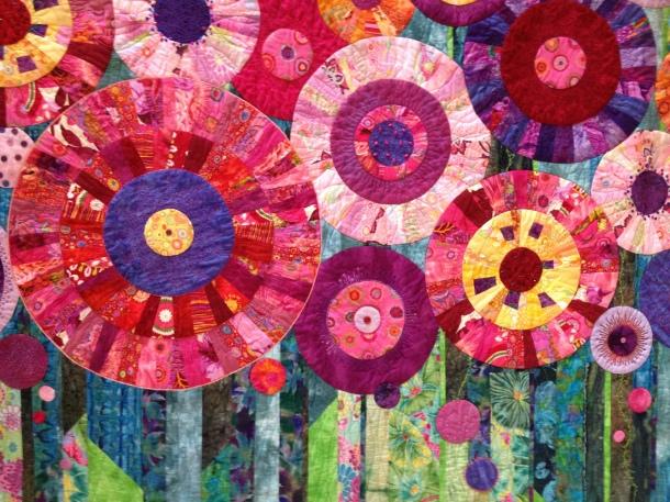 flower circle quilt
