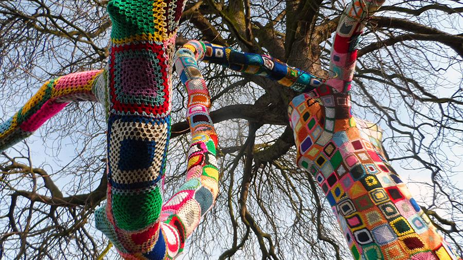crocheted tree