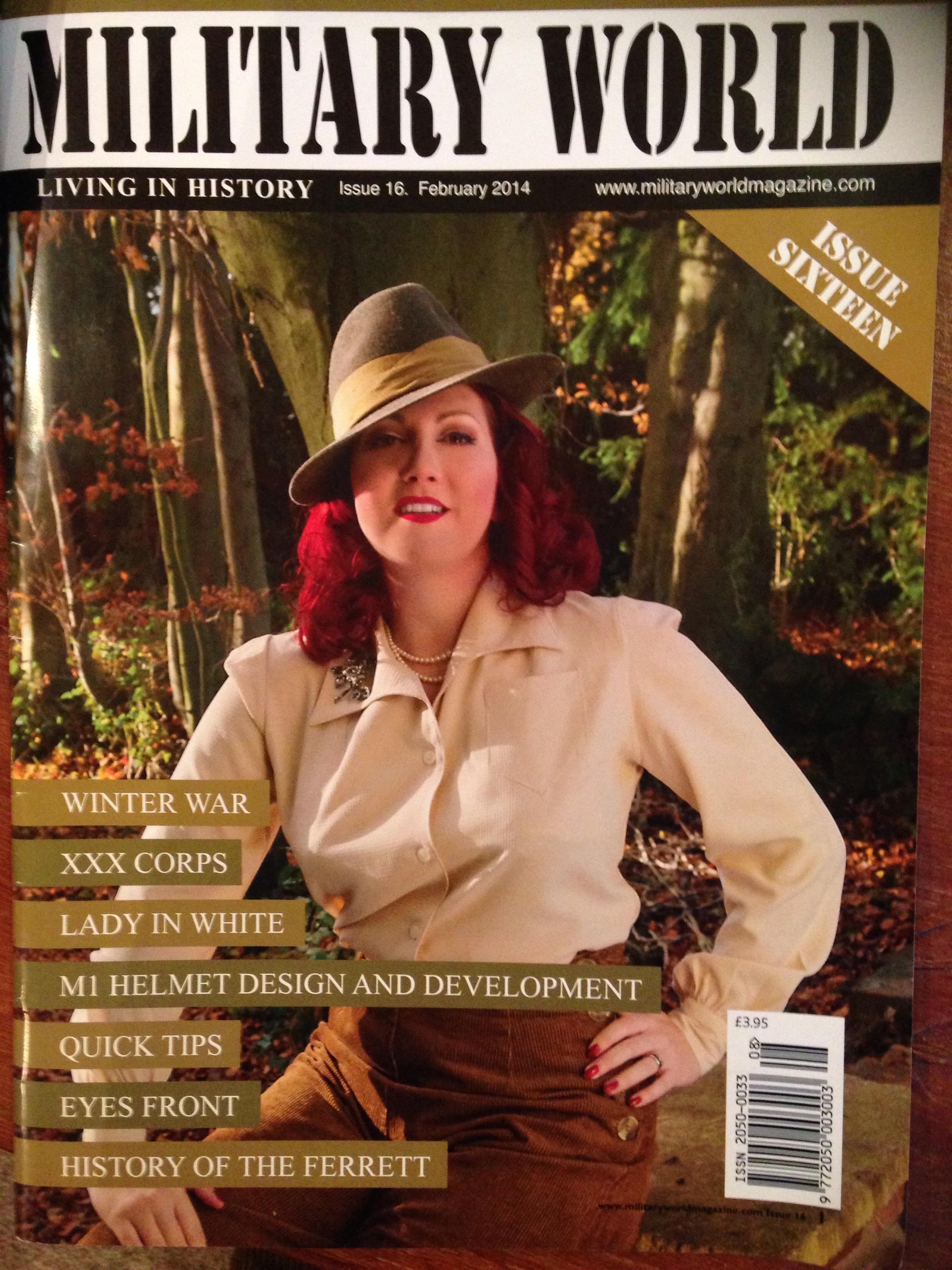 Military world magazine pinup