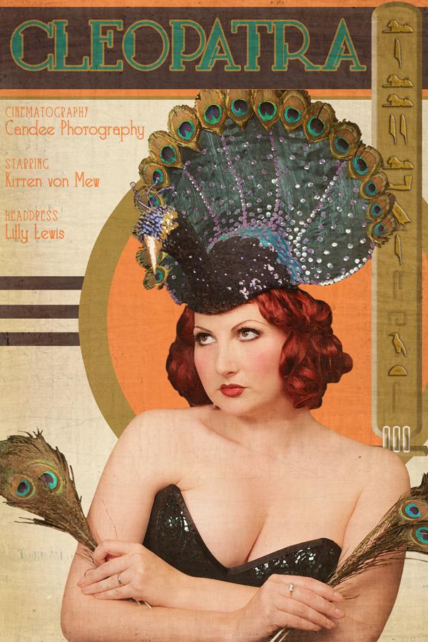 art deco cleopatra poster kitten von mew