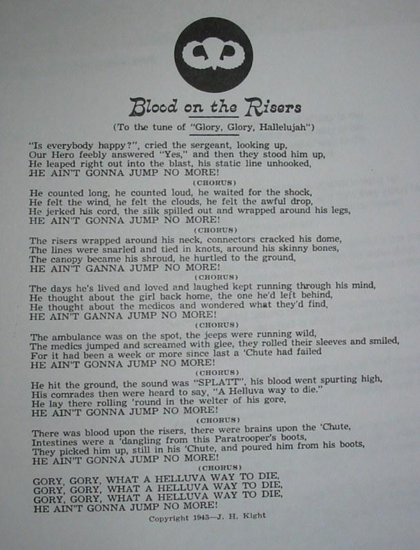 blood on the risers lyrics