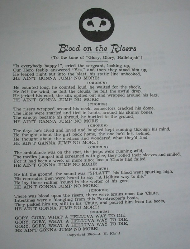 blood on the risers lyrics