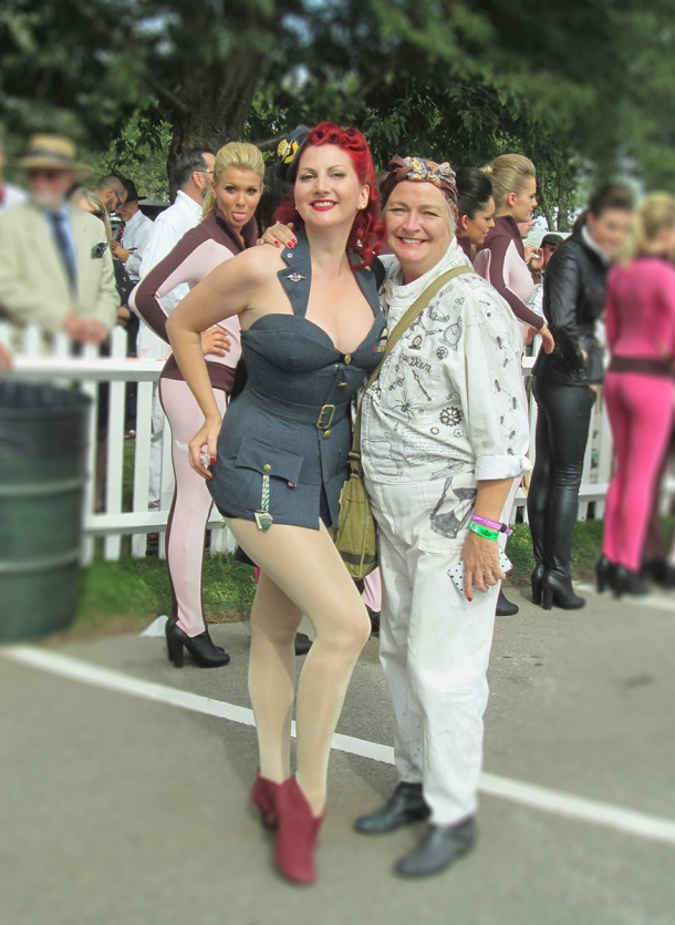 sue and kitten goodwood 2014
