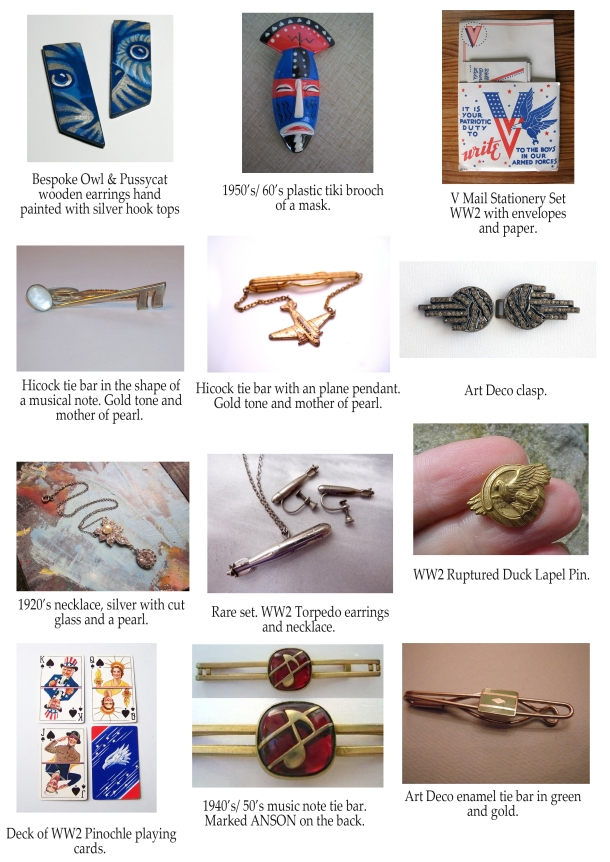 stolen vintage jewellery and items