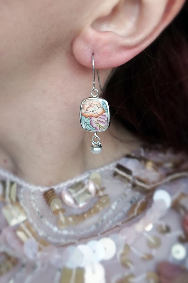 Sterling Silver China Earrings