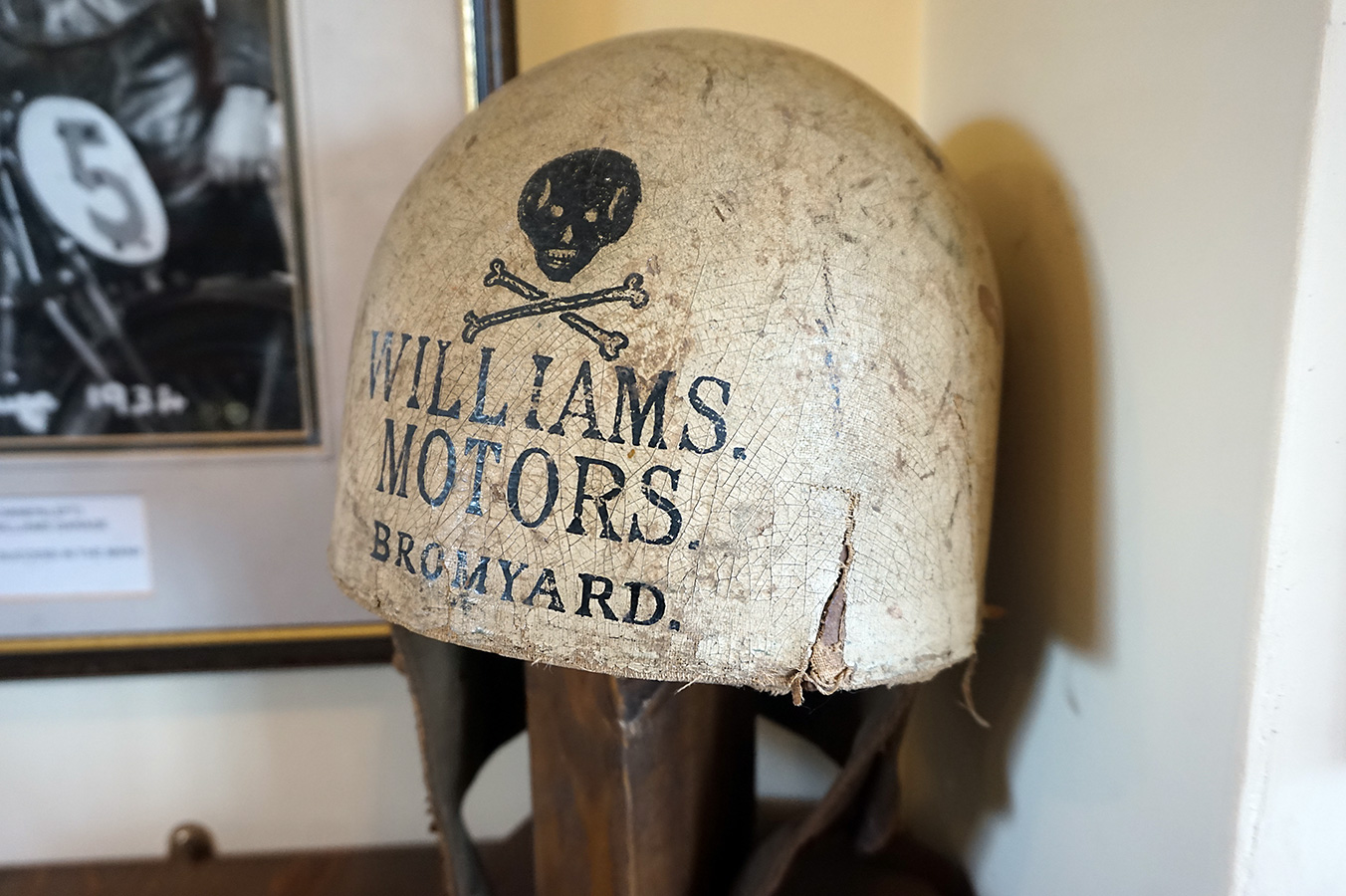 Williams Motors motorcycle helmet