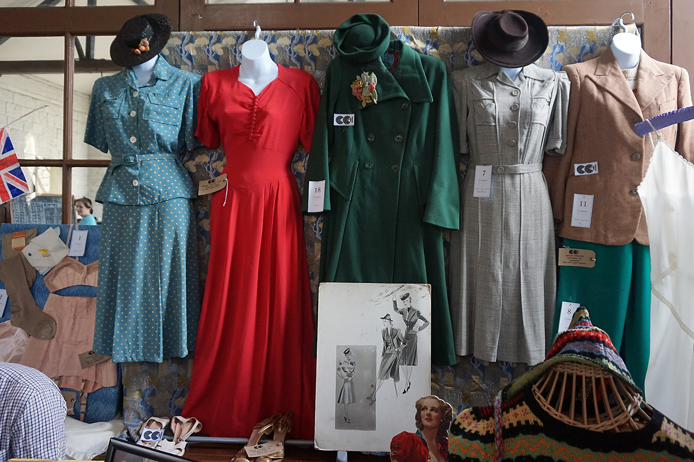 ww2 Women's clothing exhibit