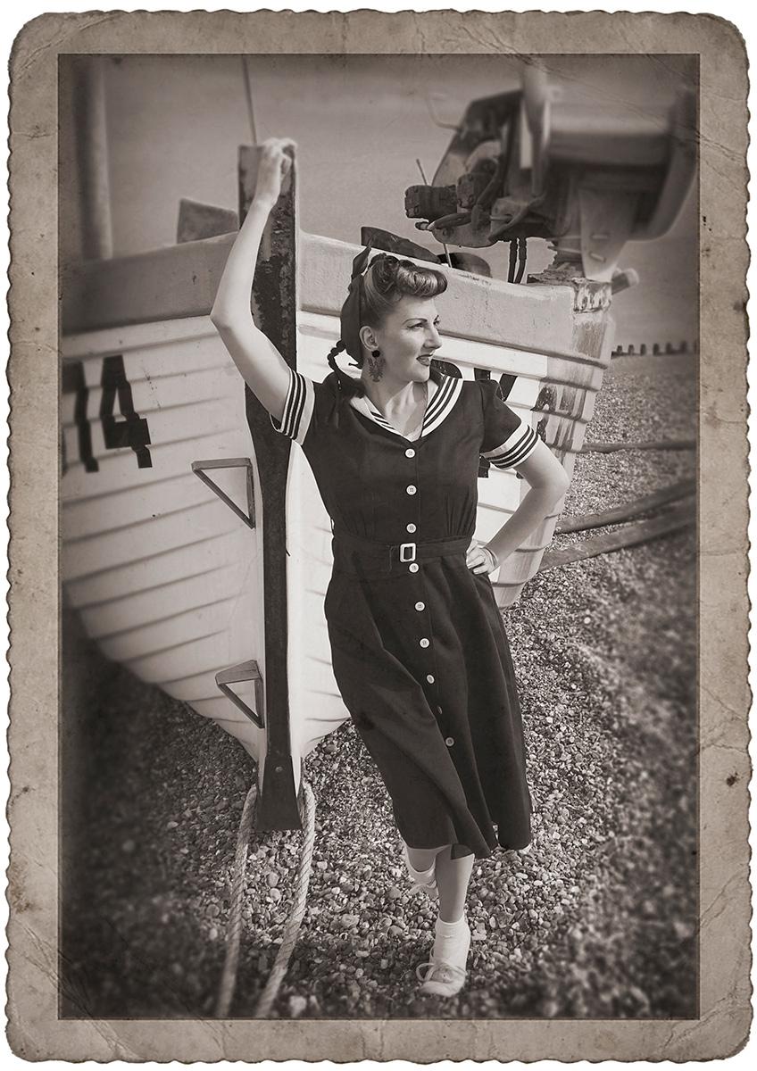 miss bamboo sailor dress