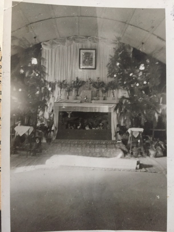 christmas in wwii you can make out the tin foil christmas decorations on the fern plants